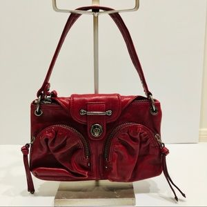 Red Leather Botkier Saddle Bag